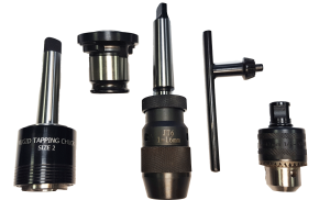 Drill Chucks and Tapping Chucks with Mt2, Mt3 and 19mm Weldon Adapters.